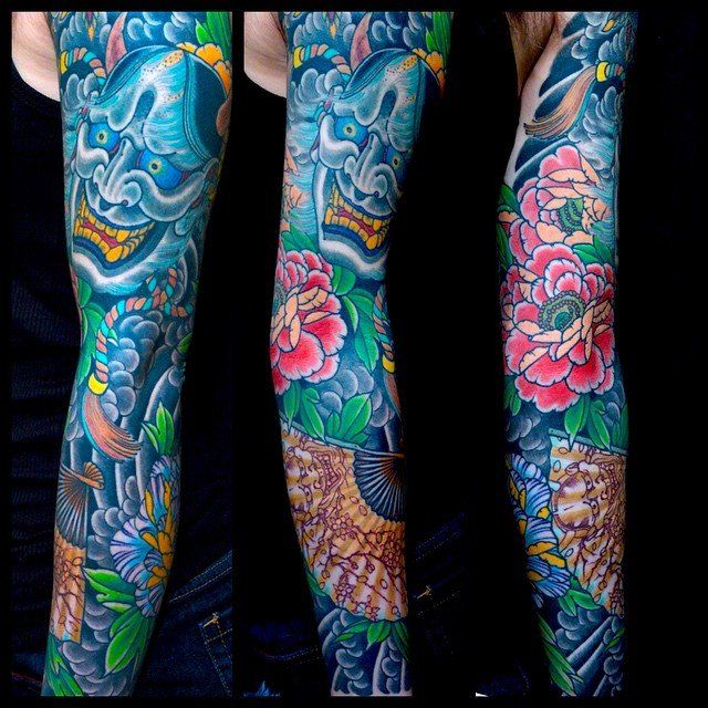 blue ink sleeve demon