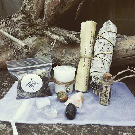 House Blessing Kit - Wiccan spell kit witchcraft supply witchy home
