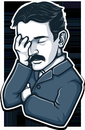 When Stickers Meet Art And History Nikola Tesla Nicolas Tesla Tesla