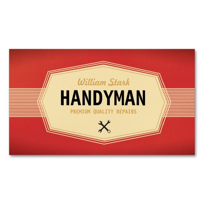 Vintage handyman business cards business cards template and business vintage handyman business cards make your own business card with this great design all reheart Image collections