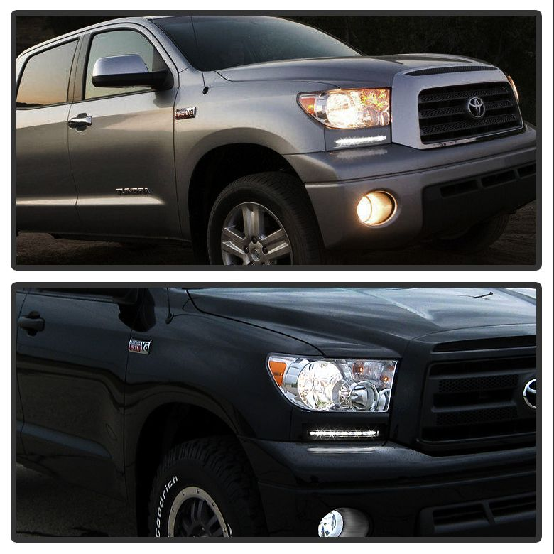 2007 2017 Toyota Tundra Sequoia Front Per Built In Led Fog Lights Kit Silver