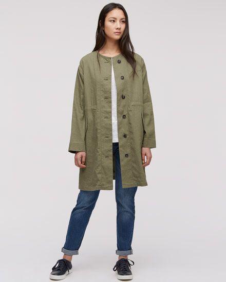 Jigsaw green military coat