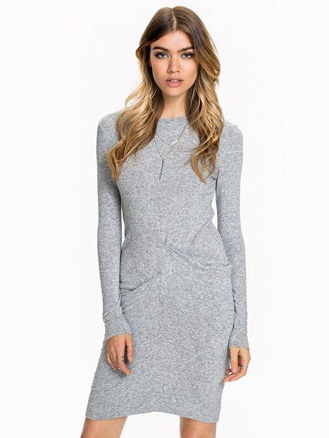 4712b3e2 Ellba Dress - By Malene Birger - Medium Grey Melange - Kjoler - Klær -  Kvinne