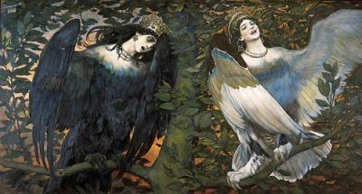 Viktor Vasnetsov - Sirin and Alkonost 1896 Birds of Joy and Sorrow
