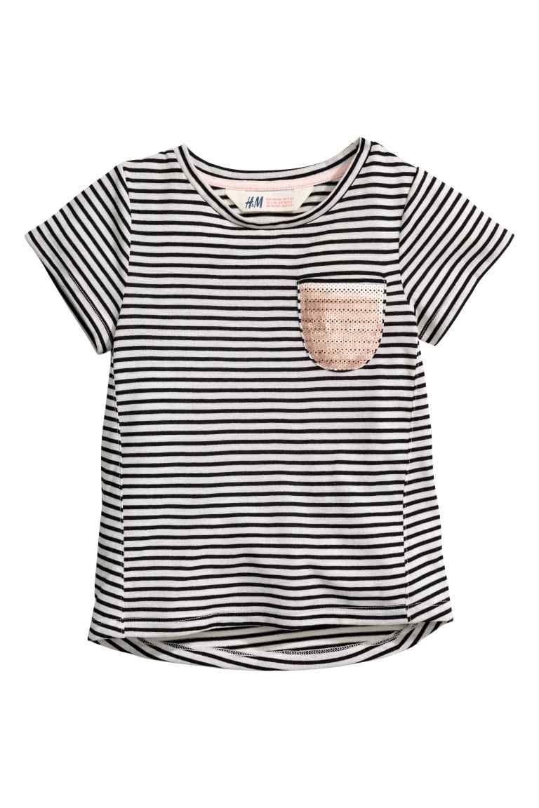 Gestreept tricot T-shirt | H&M