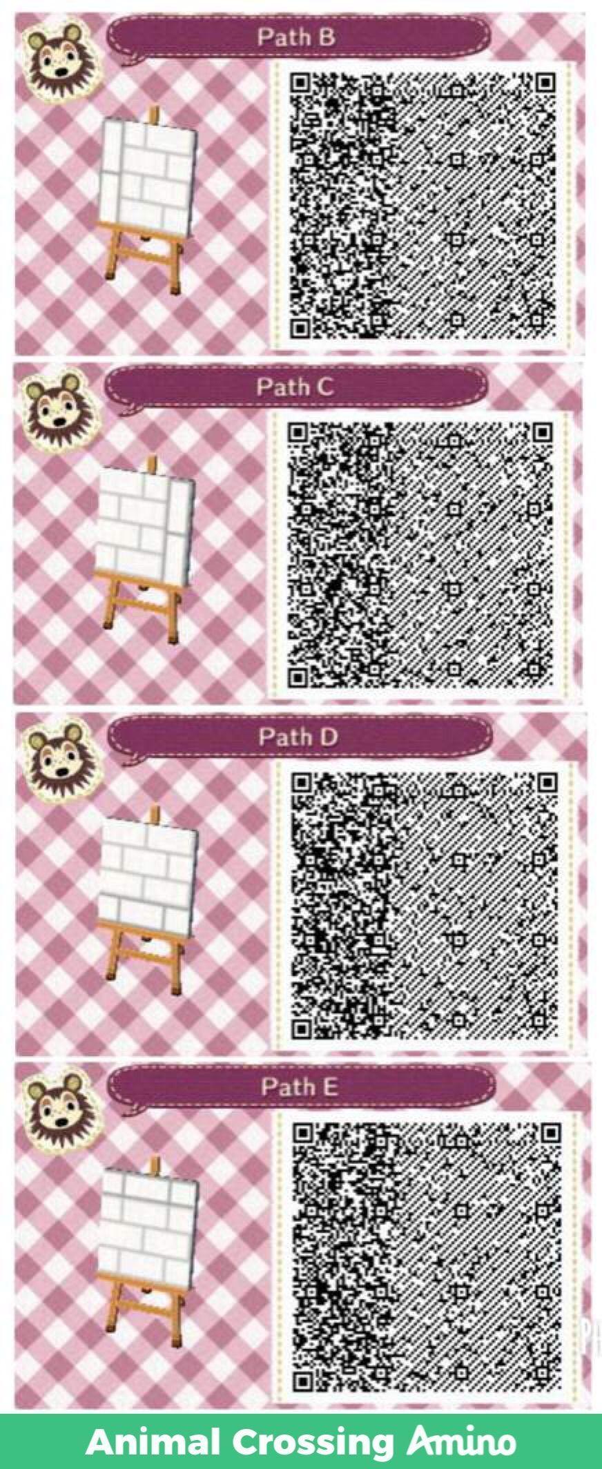 White path qr ACNL/ACNH in 2020 Animal crossing qr, Acnl
