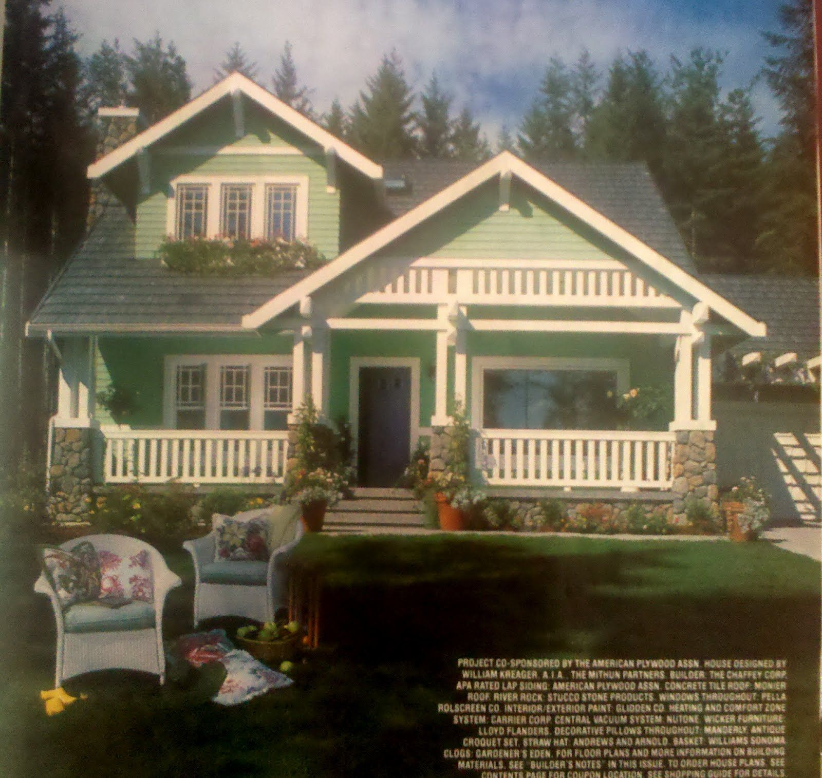 Country living house of the year 1992 google search for Country living house plans