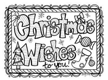 Christmas Wishes Coloring Sheet Coloring Calendar Coloring Sheets Printable Coloring Pages