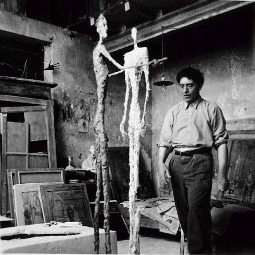 Alberto Giacometti no atelier, Paris 1950