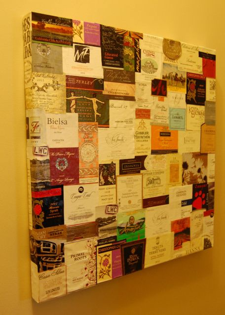 126 Labels of Wine on the Wall - winebar should totally do this ...