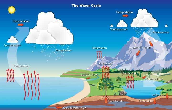 WATER CYCLE The Water Or Hydrologic Cycle Describes Pilgrimage Of As Molecules Make Their Way From Earths Surface To At