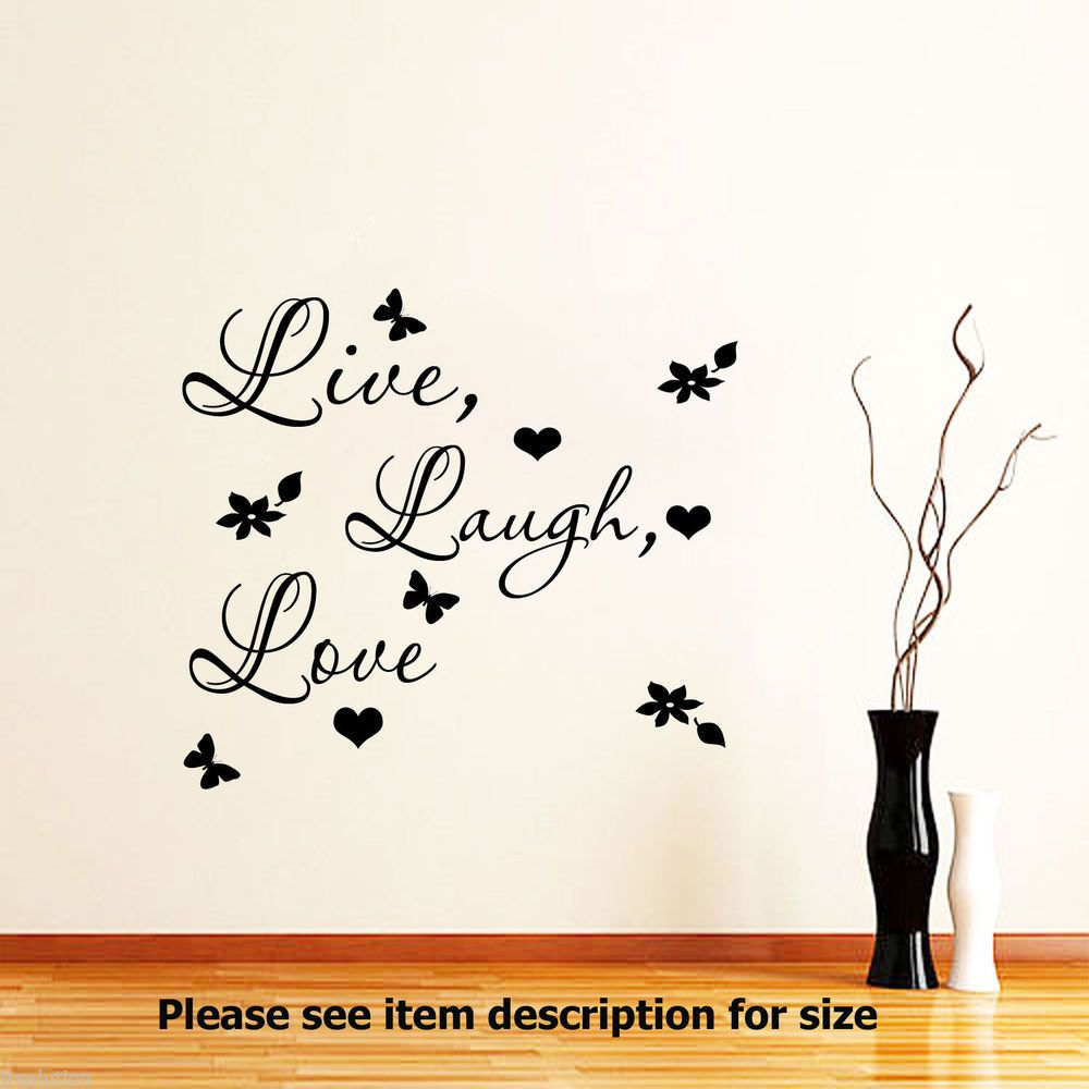 Love Wall Quotes Details About Live Laugh Love Wall Quote Stickers Removable Vinyl