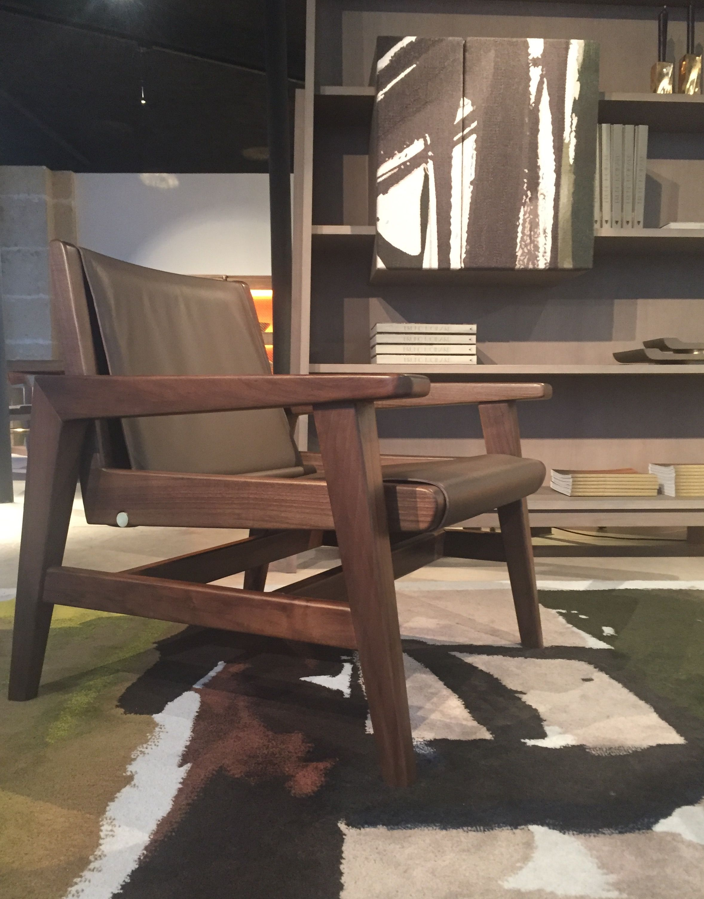 Harkavy furniture focuses on modern pieces made of wood and steel -  Armchair Colpo