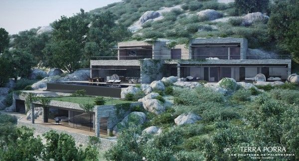 Corsican Mountain View Villas Visualized Spectacular Home Designs