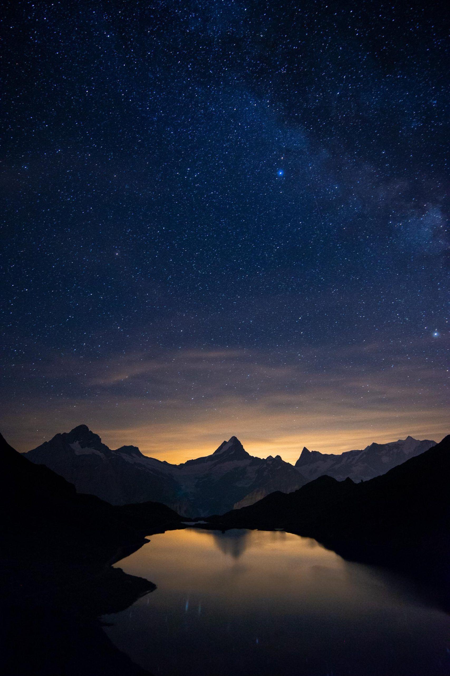 Magical Starry Night At Bachalpsee Switzerland Oc 2000x3000 Amazing Beau 2000x3000 Amazi In 2020 Night Landscape Photography Starry Night Night Landscape