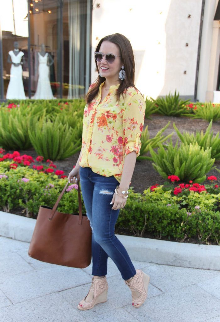 b028e65db0c22d Yellow Floral Blouse + Link Up