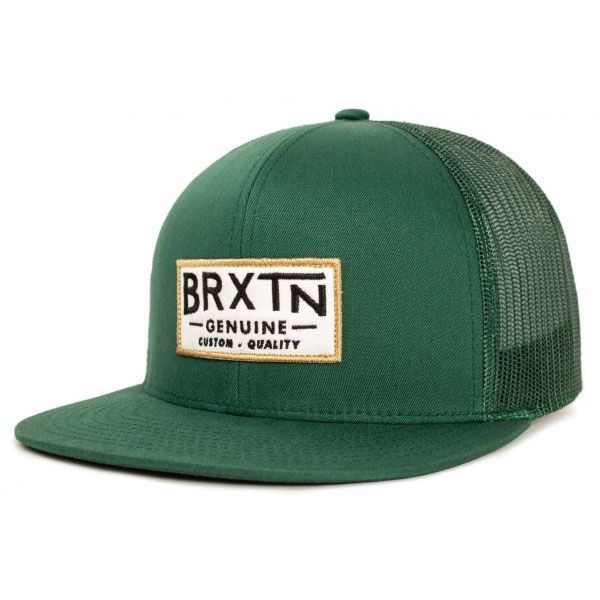 313b8f2e8a37b Dunning Trucker Hat by Brixton- FOREST GREEN