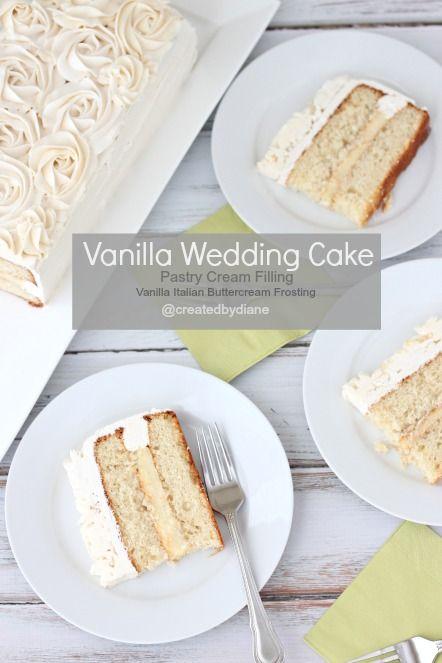 Nice Vanilla Wedding Cake @createdbydiane