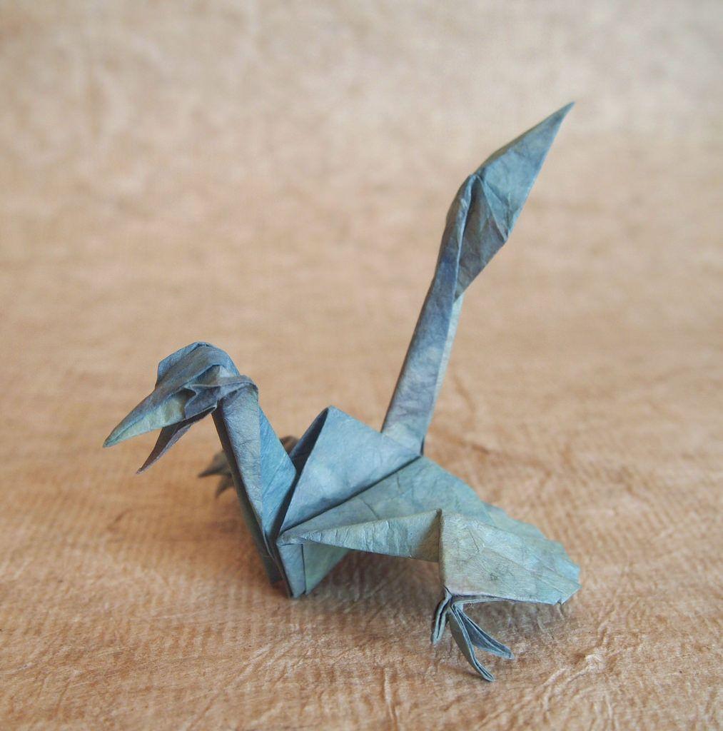 Origami crane raptor origami origami cranes and origami ideas origami crane raptor designed and folded jeuxipadfo Image collections