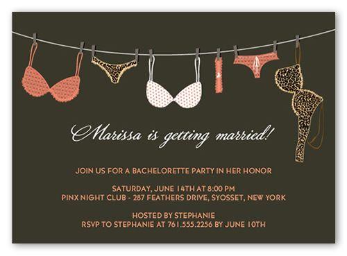 Lingerie line bachelorette party invitation square corners pink lingerie line bachelorette party invitation square corners pink stopboris Choice Image