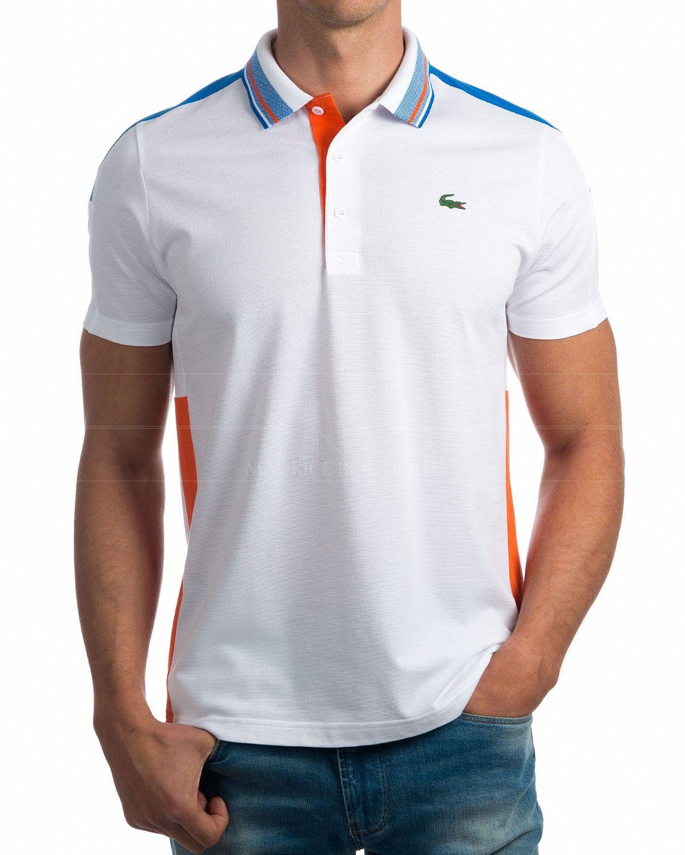 0e6376d1356 Polos Lacoste Sport - Azul Royal   Blanco