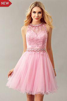 осенние платья выпускного вечера G0849 1000 Dresses Pink Prom