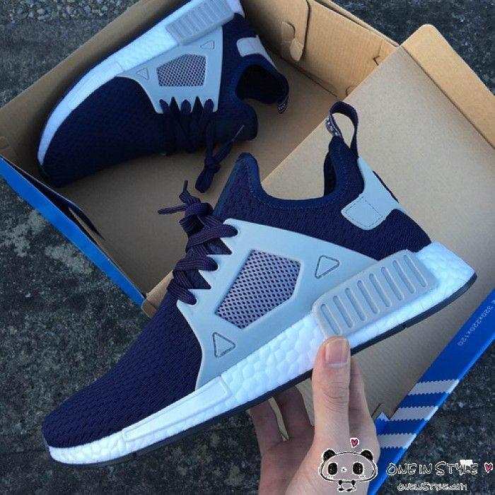 adidas nmd rt striscia blu navy celebrita 'stile pinterest
