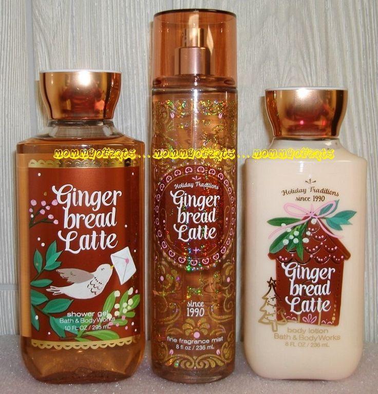 Gingerbread Latte Bath And Body Works Fragrance Mist Body