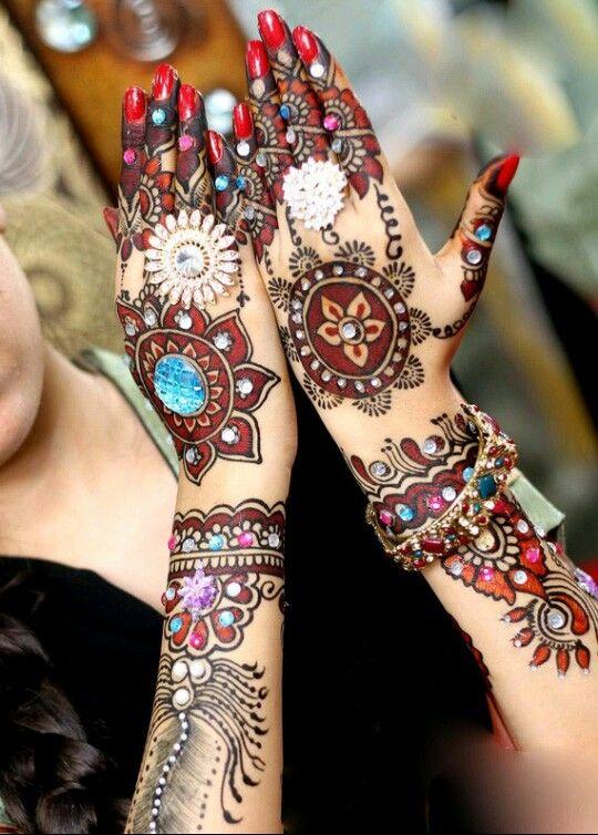 Golecha Maroon And Black Henna Cones Golecha Henna Designs