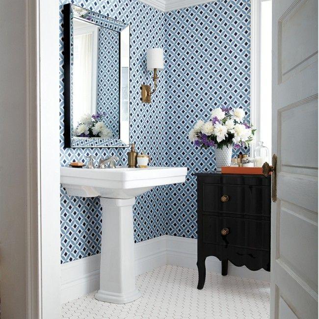 Wallpaper In The Bathroom These Designs Are Trendy Wohnideen Und Dekoration Ideens 2019 Small Bathroom Bathroom Wallpaper Small Bathroom Wallpaper
