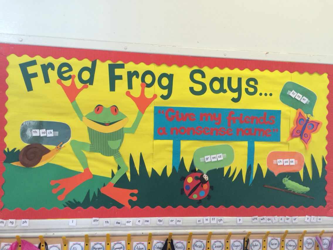 Phonics Display Year 1 Nonsense Words Fred Frog