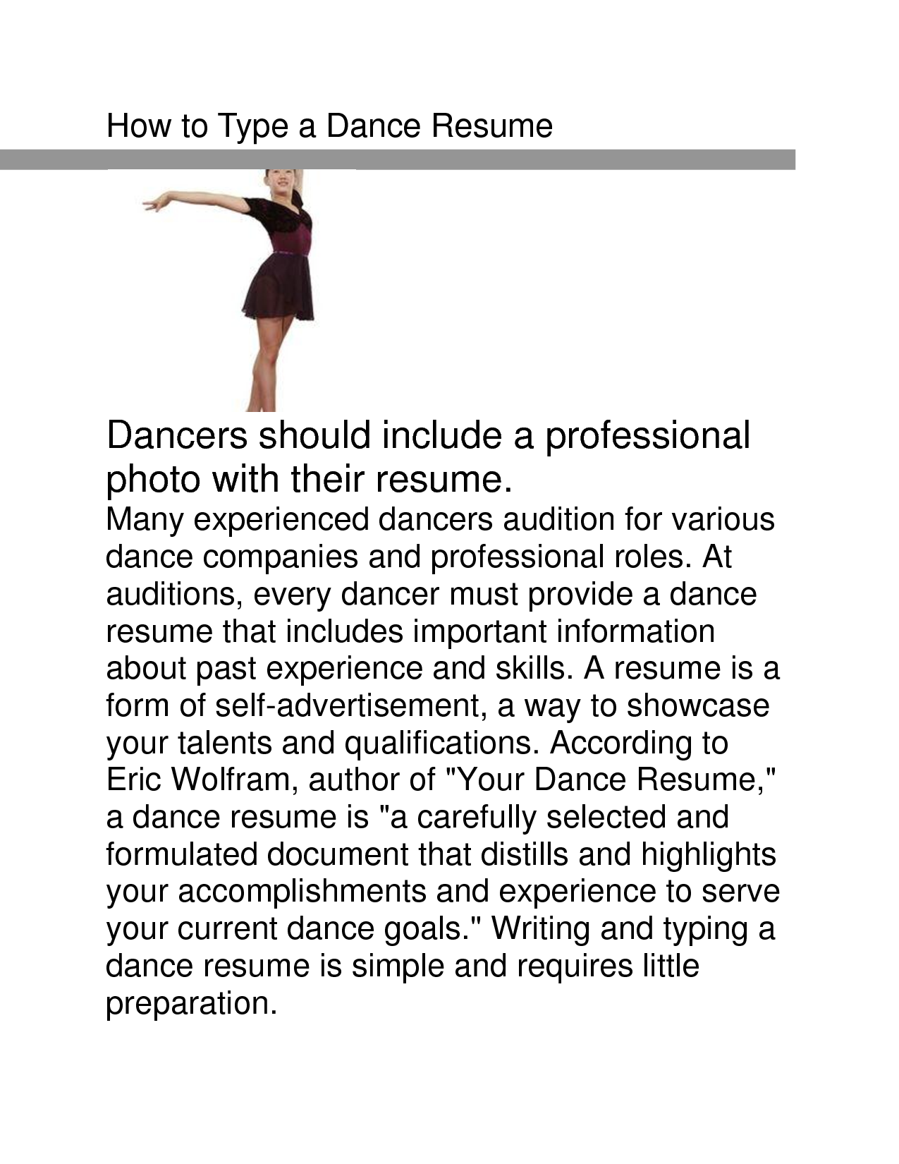 Dance Resume Template Medical Director Resume Sample  Httpwwwresumecareer