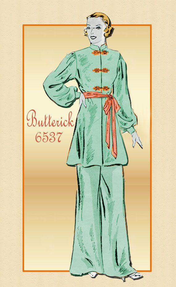 a3296bf3ac Reserved for Elizabeth-Vintage Pattern Butterick 6537 - 1930s Tunic ...