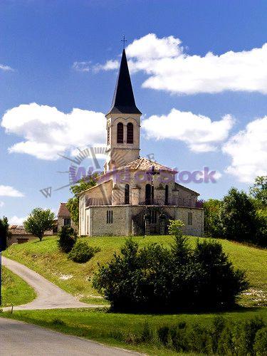 Vintage churches of the world   Old Church On A Mound Saint Cevet Tarn Et Garonne France Europe