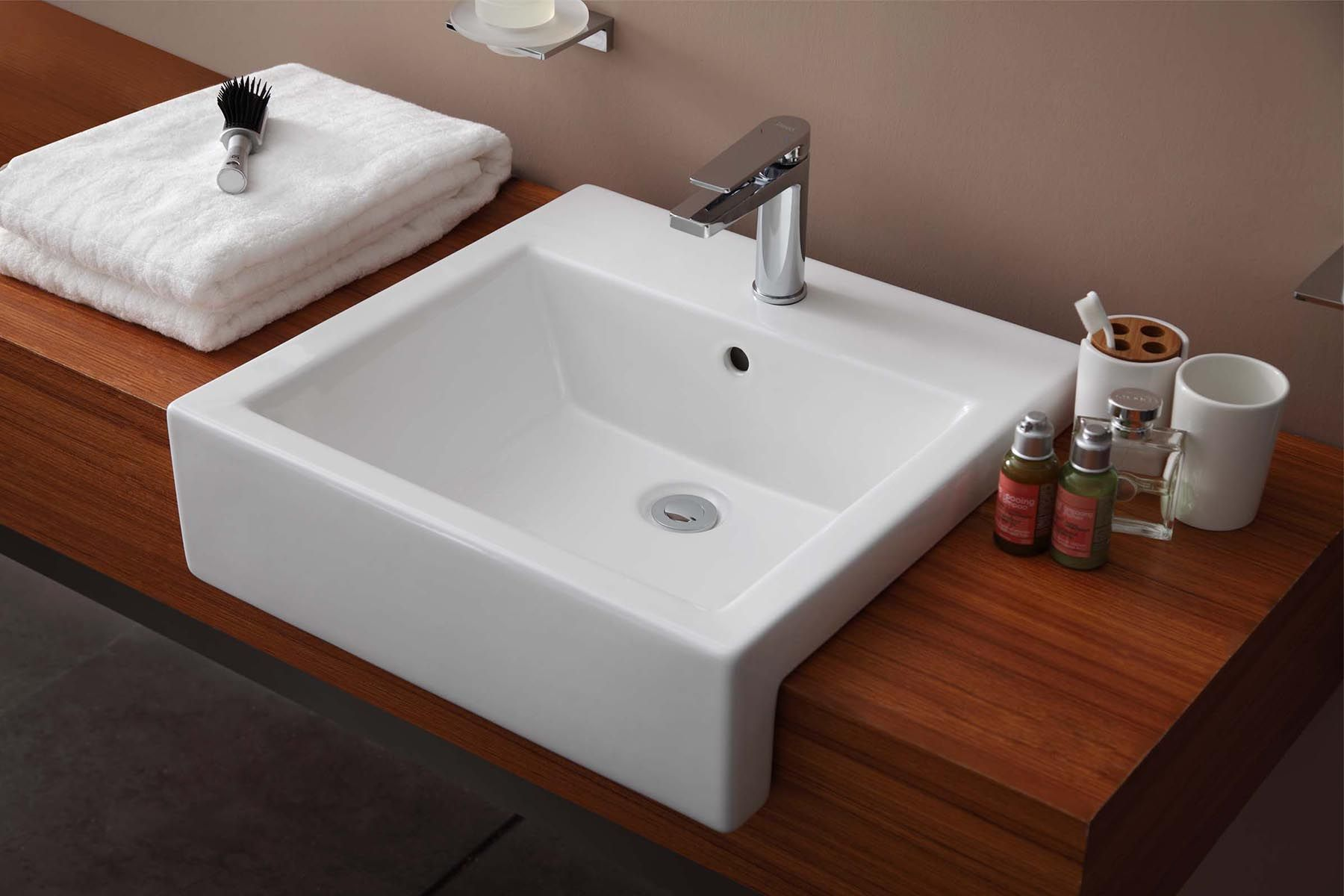 Recessed Bathroom Basins Rectangular Sink Bathroom Sink Wall Mounted Bathroom Sinks