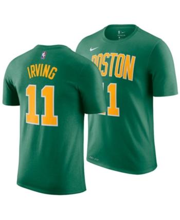 4e366e681d7f3 Nike Big Boys Kyrie Irving Boston Celtics Earned Edition Name and Number T- Shirt - Green XL