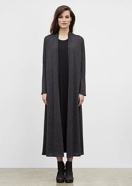 EILEEN FISHER: New Arrivals: Ultrafine Merino Maxi Cardigan, Black ...