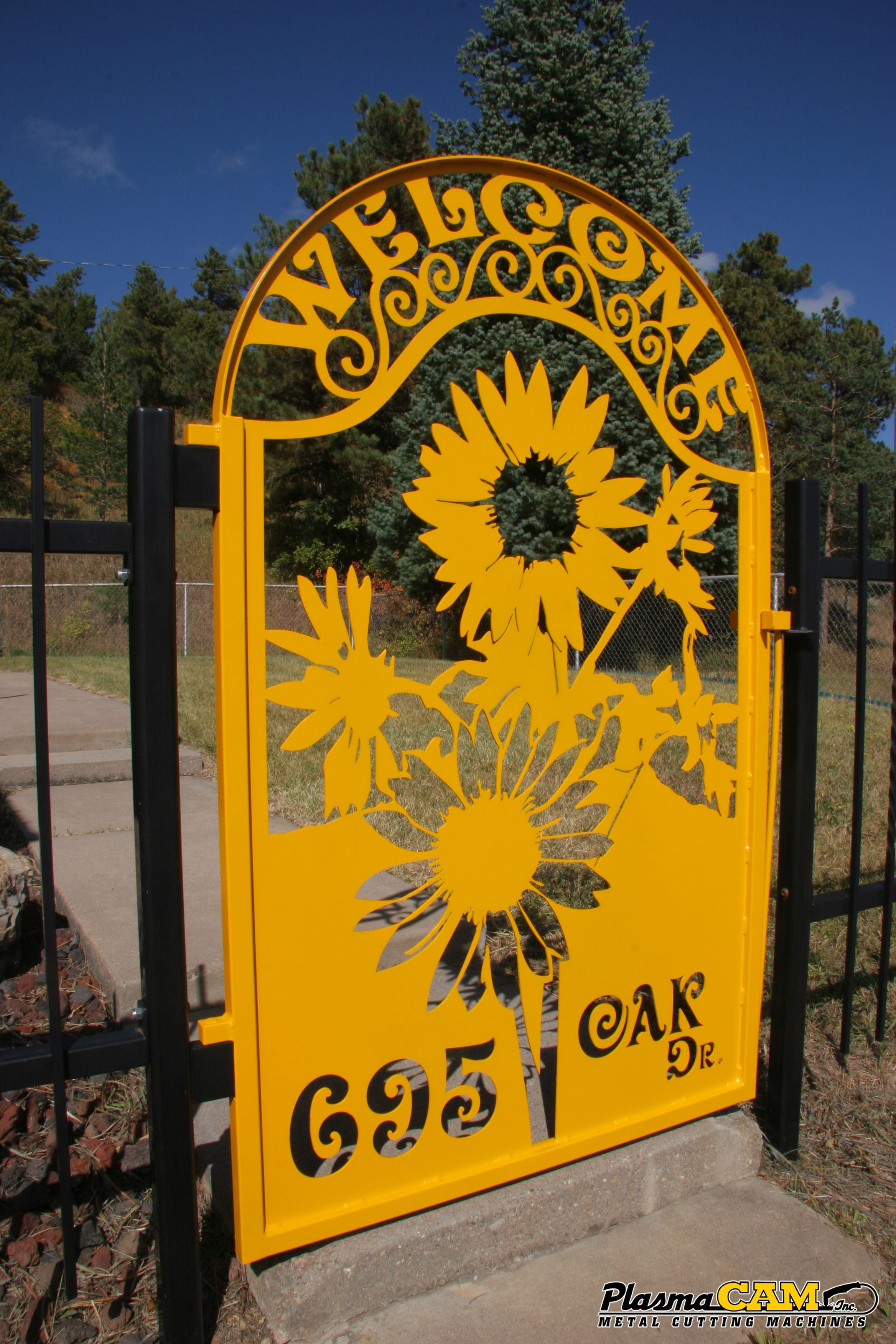 Sunflower Yellow Metal Garden Gate | Plasma Cut with a PlasmaCAM ...
