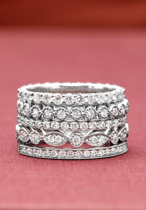 Vintage Inspired And Stunning Stacked Wedding Rings Wedding Rings Beautiful Jewelry