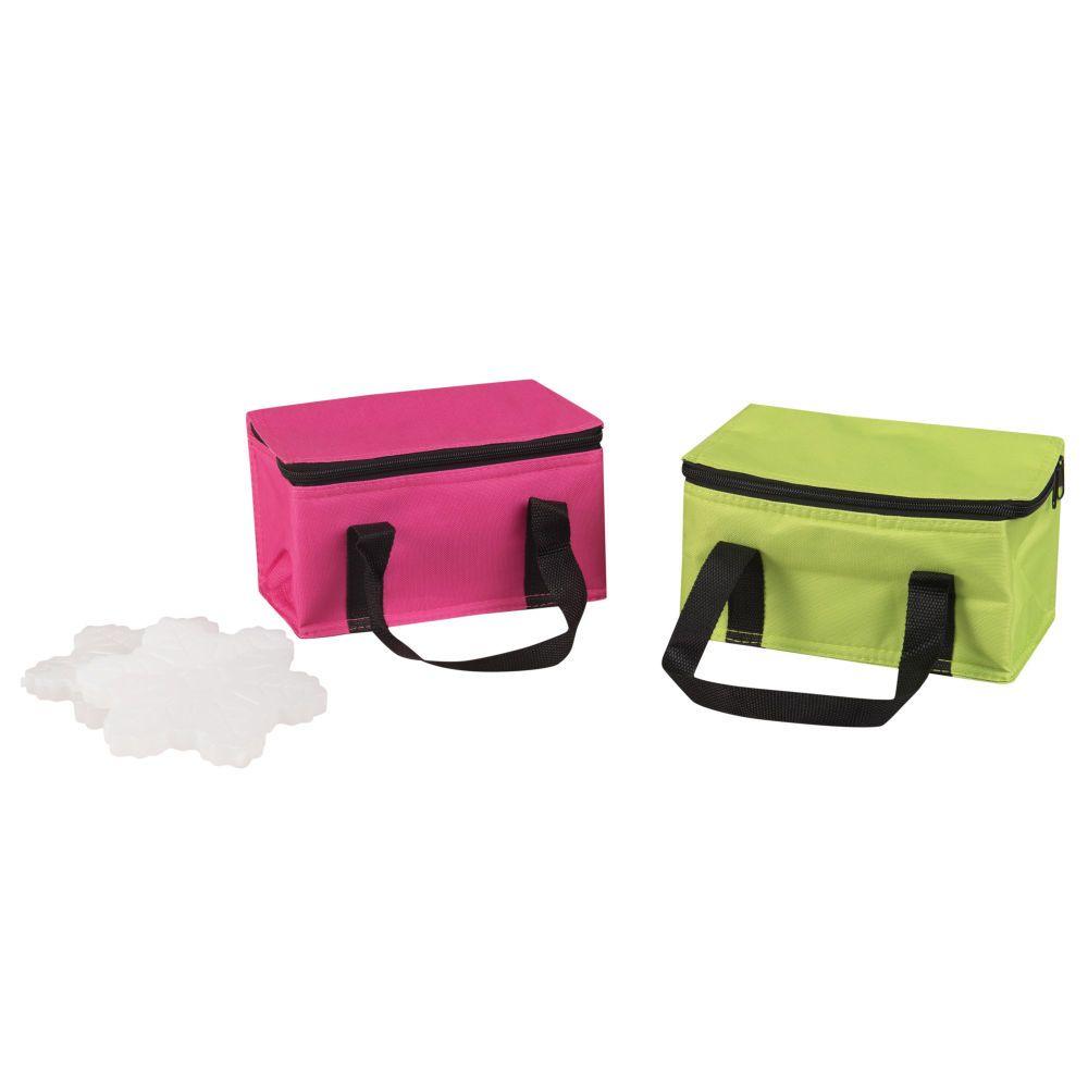 2 Lunch Bag Isotherme Rose Et Vert Rose Et Vert Lunch Bag Isotherme Vert