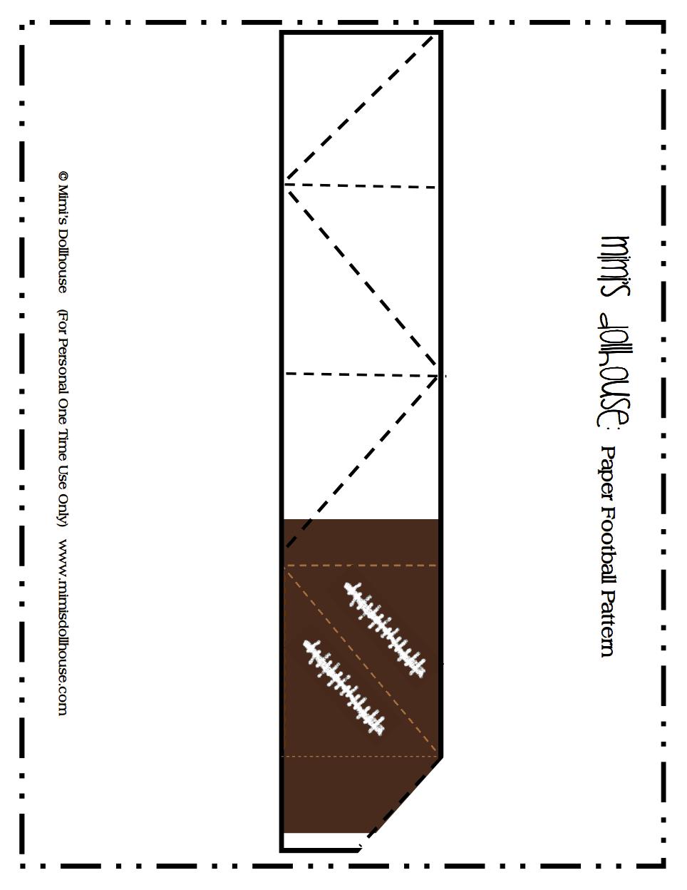 Paper Football Patternpdf