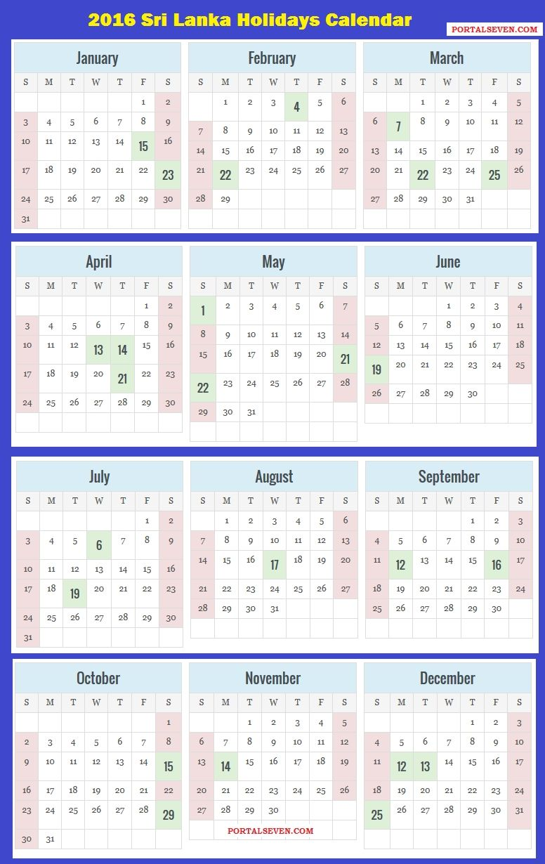 2018 calendar sri lanka with holidays calendar printable free 2018 holiday calendar sri lanka
