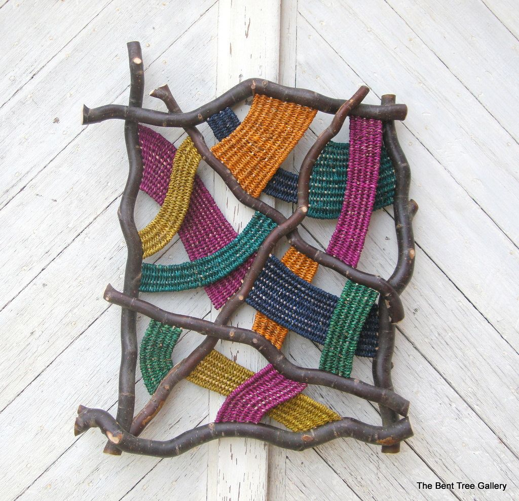 Contemporary Woven Wall Sculpture Prism  by TheBentTreeGallery, $375.00