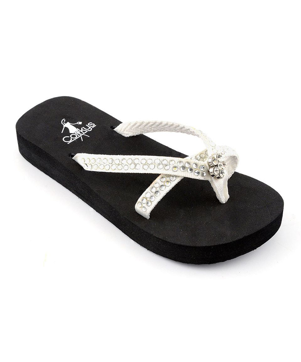 a144b7840590e1 Love this Corky s Footwear White Jewel Weather Flip-Flop - Kids by Corky s  Footwear on  zulily!  zulilyfinds