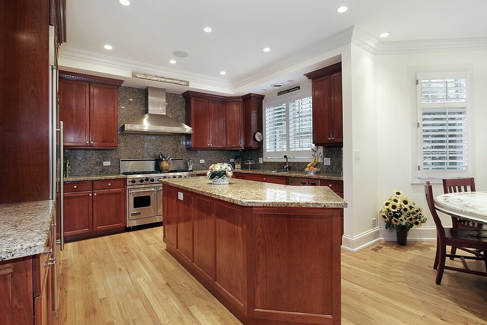 43 Kitchens With Extensive Dark Wood Throughout Cherry Wood