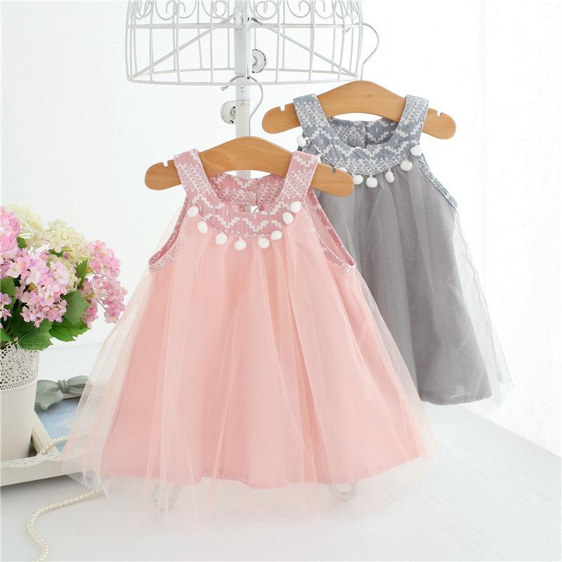 1e192d6e7596 Pom Pom Collar Infant Dress