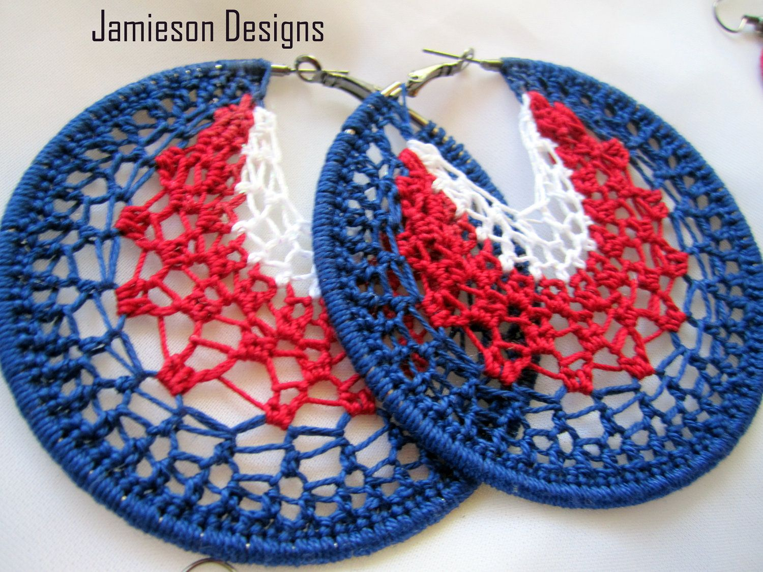 Independence Day July 4th Earrings Crochet Pattern