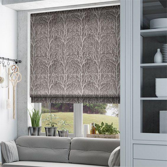 Dark Gray Roman Shades   Home design ideas