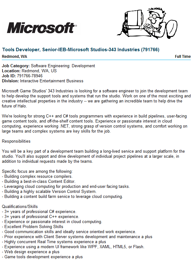 Microsoft Usa Are Hiring Microsoft Are Looking For A Senior Tools Developer 3 Years Of Professional C C Expe Job Posting Software Engineer How To Apply