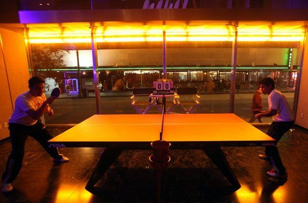 Giving L A A Glitzy Spin On Ping Pong Ping Pong Standard Hotel Spinning